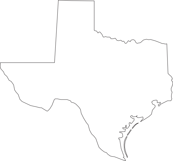 Texas Outline Clip Art At Clker Com   Vector Clip Art Online Royalty
