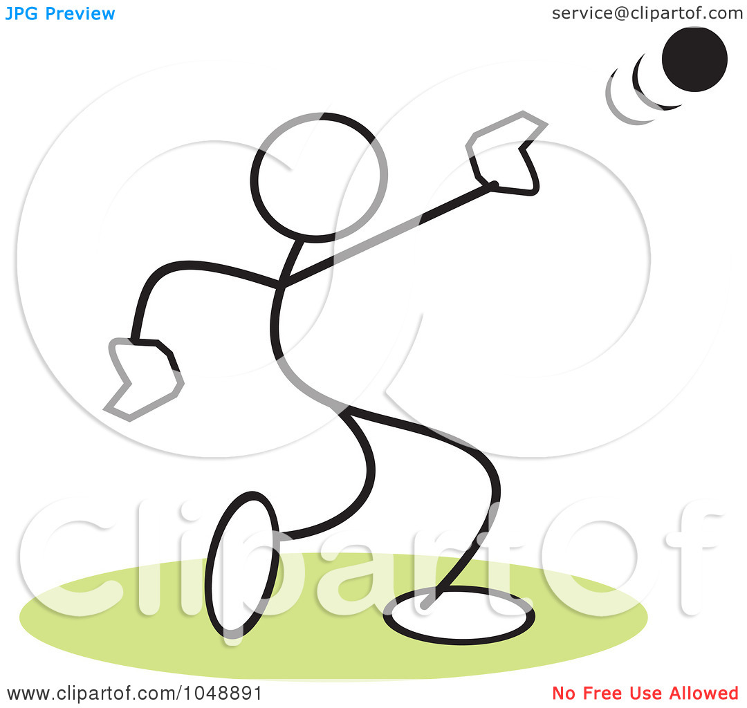Throw Clipart Royalty Free Rf Clip Art Illustration Of A Stickler