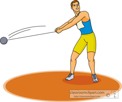 Track And Field Clipart Hammer Throw Sports 06 Classroom Clipart