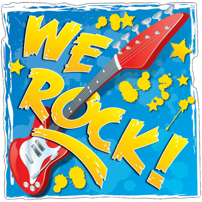 We Rock Clip Art We Rock  Two Sided Decoration  This Fun Two Sided