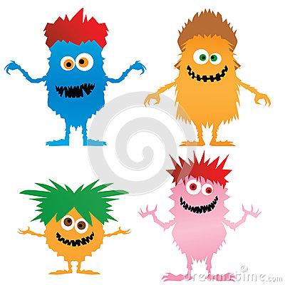 Wild Hair Clipart Cute Little Monsters Wild Hair