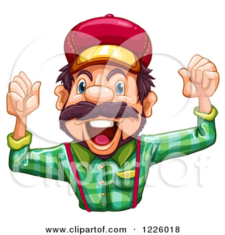 Clipart Excited Cheering