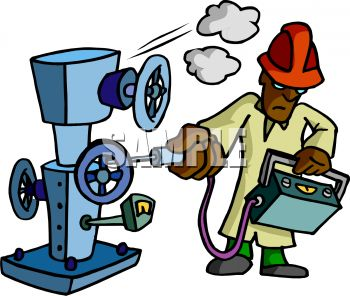 Machine Clipart 0511 1009 1813 0925 Machine Inspector Checking Gauges