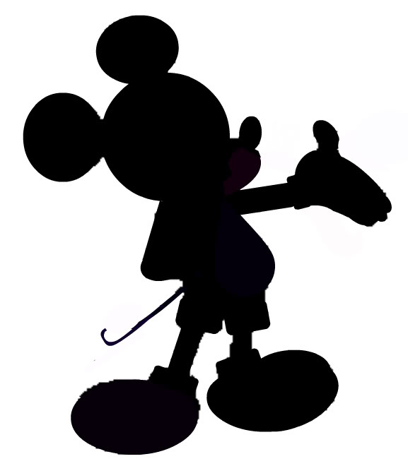 Minnie And Mickey Silhouette Clipart Clipart Suggest