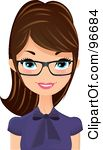 Royalty Free Rf Clipart Illustration Of A Pretty Brunette Receptionist