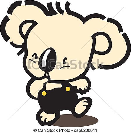 Vector Clip Art Of Koala Bear   Stock Vector Illustration  Koala Bear