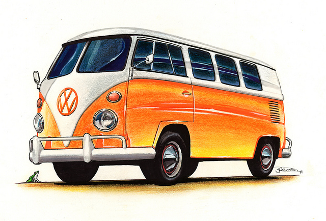 vw campervan drawing 2011 flickr photo sharing RJ6G6w clipart