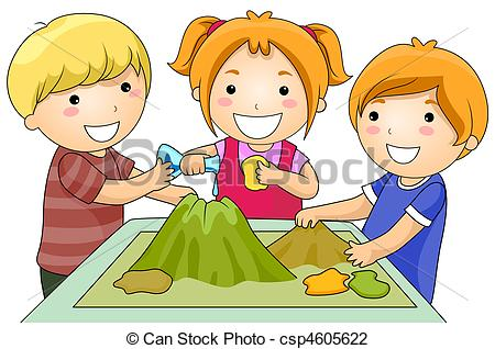 Clip Art Of Volcano Project   A Small Group Of Kids In A Volcano