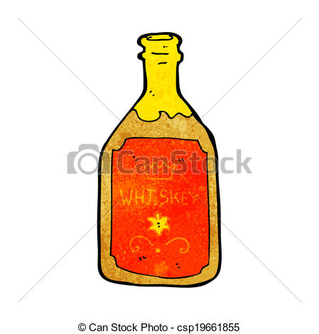 Clipart Vector Of Cartoon Whiskey Bottle Csp19661855   Search Clip Art