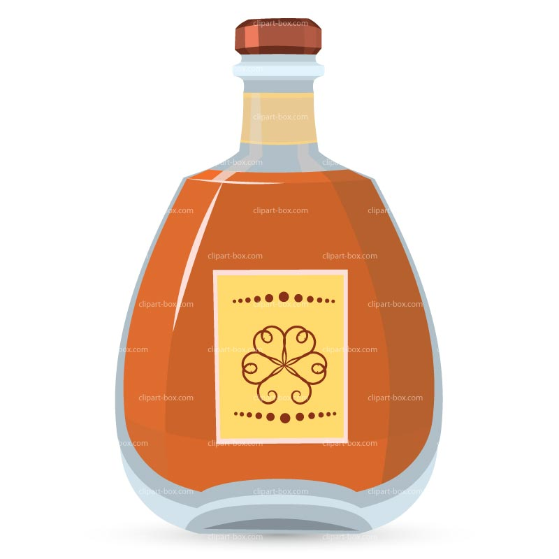 Clipart Whiskey Bottle   Royalty Free Vector Design