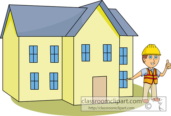Construction   Construction House 12313   Classroom Clipart
