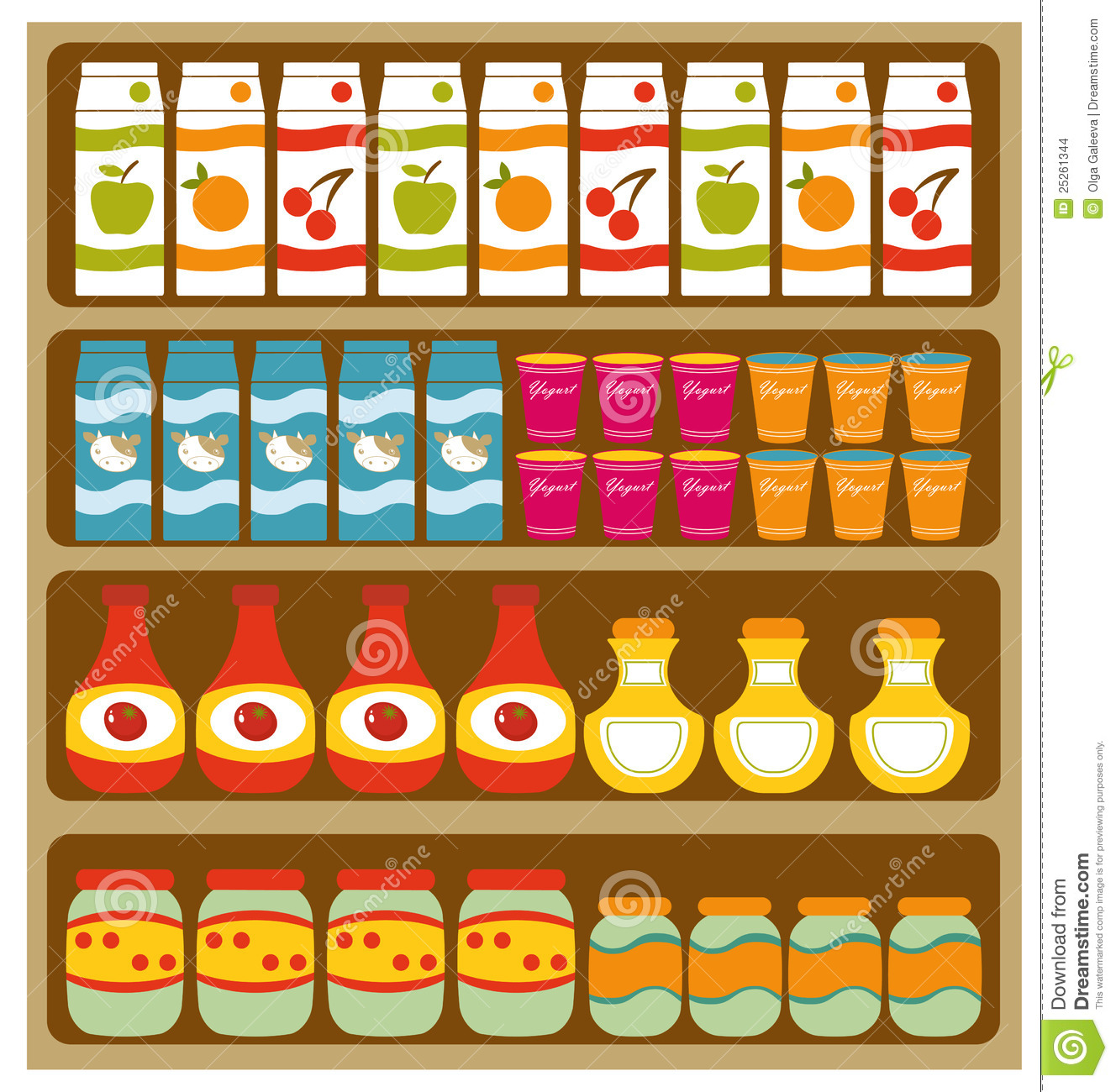 Clip Art Grocery Clipart grocery clipart kid shelves stock images image 25261344