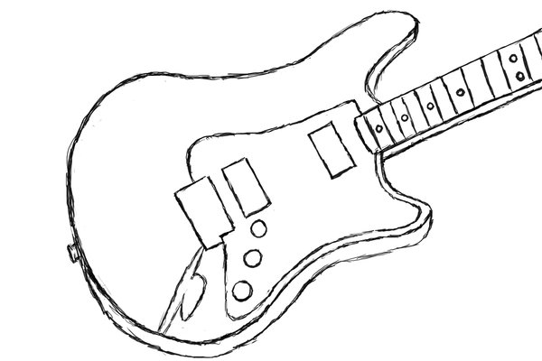 Guitar Outline Clipart - Clipart Suggest