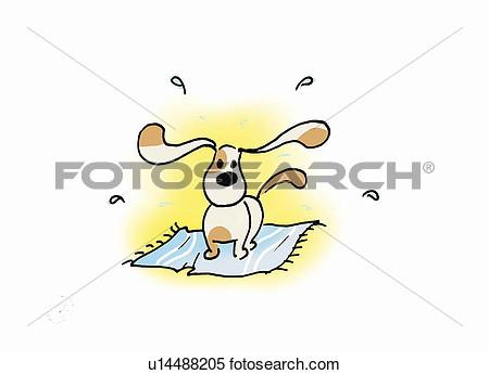 Dog Shaking Clip Art