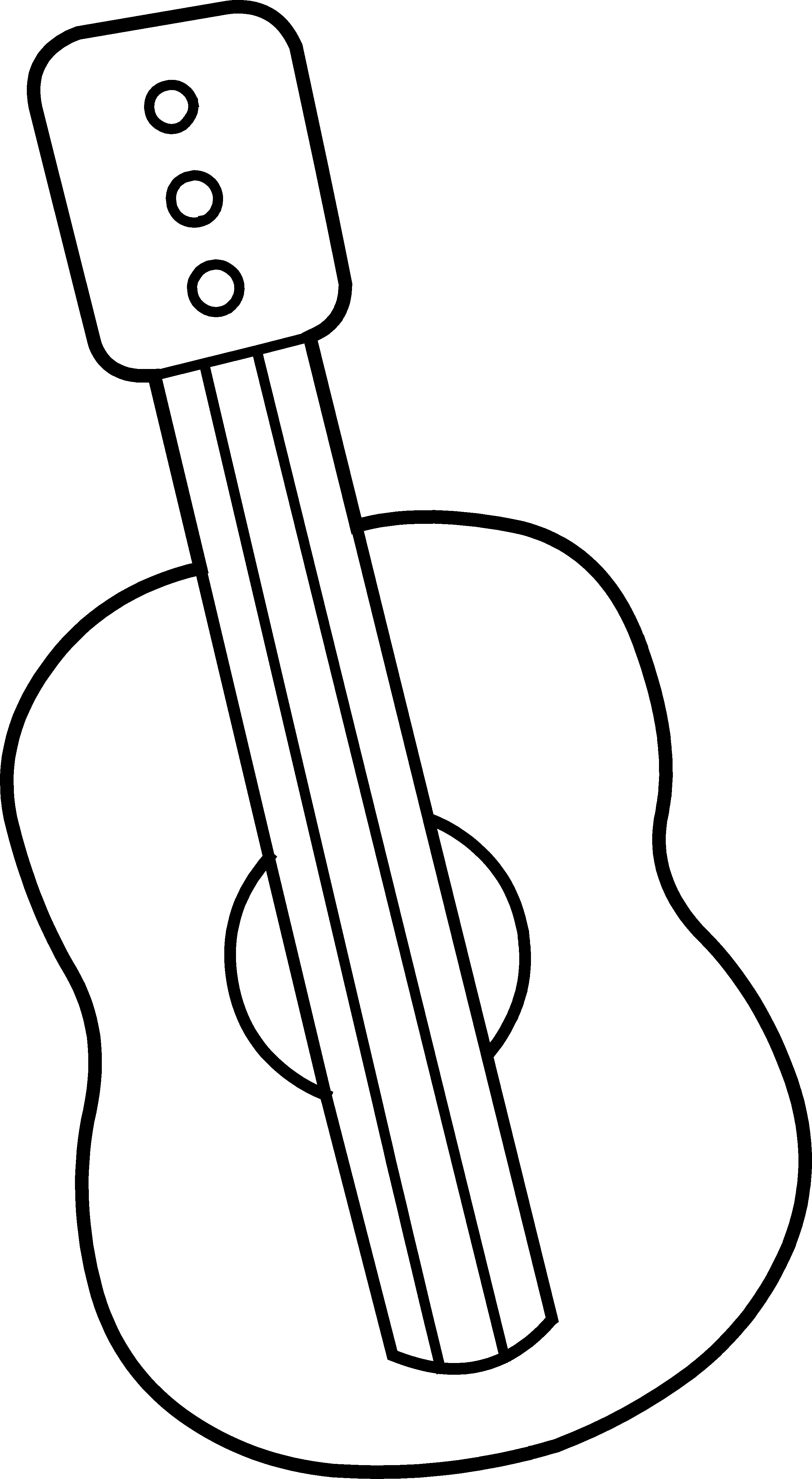 Guitar Outline Clipart Clipart Suggest