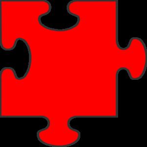 Red Puzzle Piece Top Clip Art At Clker Com   Vector Clip Art Online