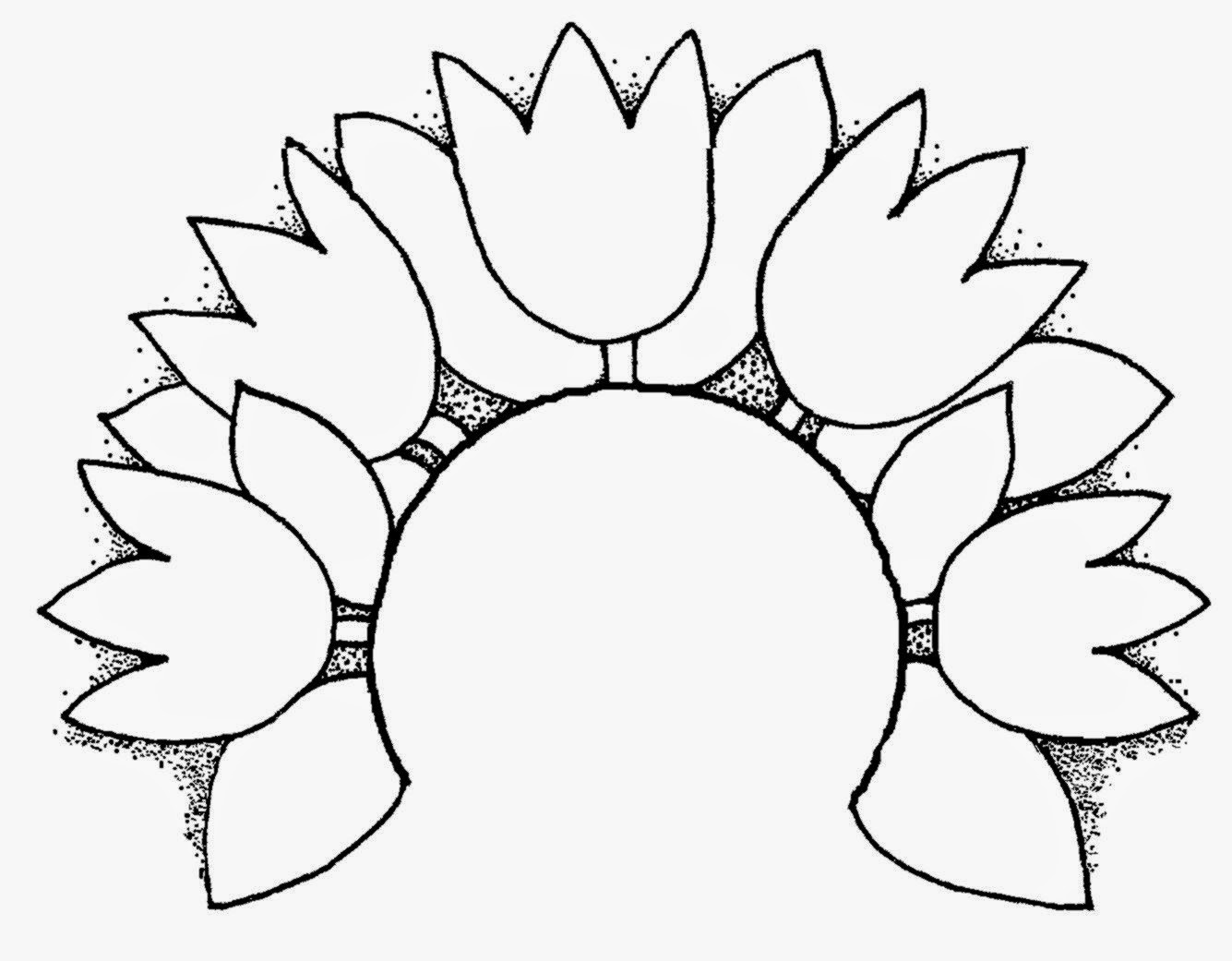 Tulip Black And White Clipart - Clipart Kid