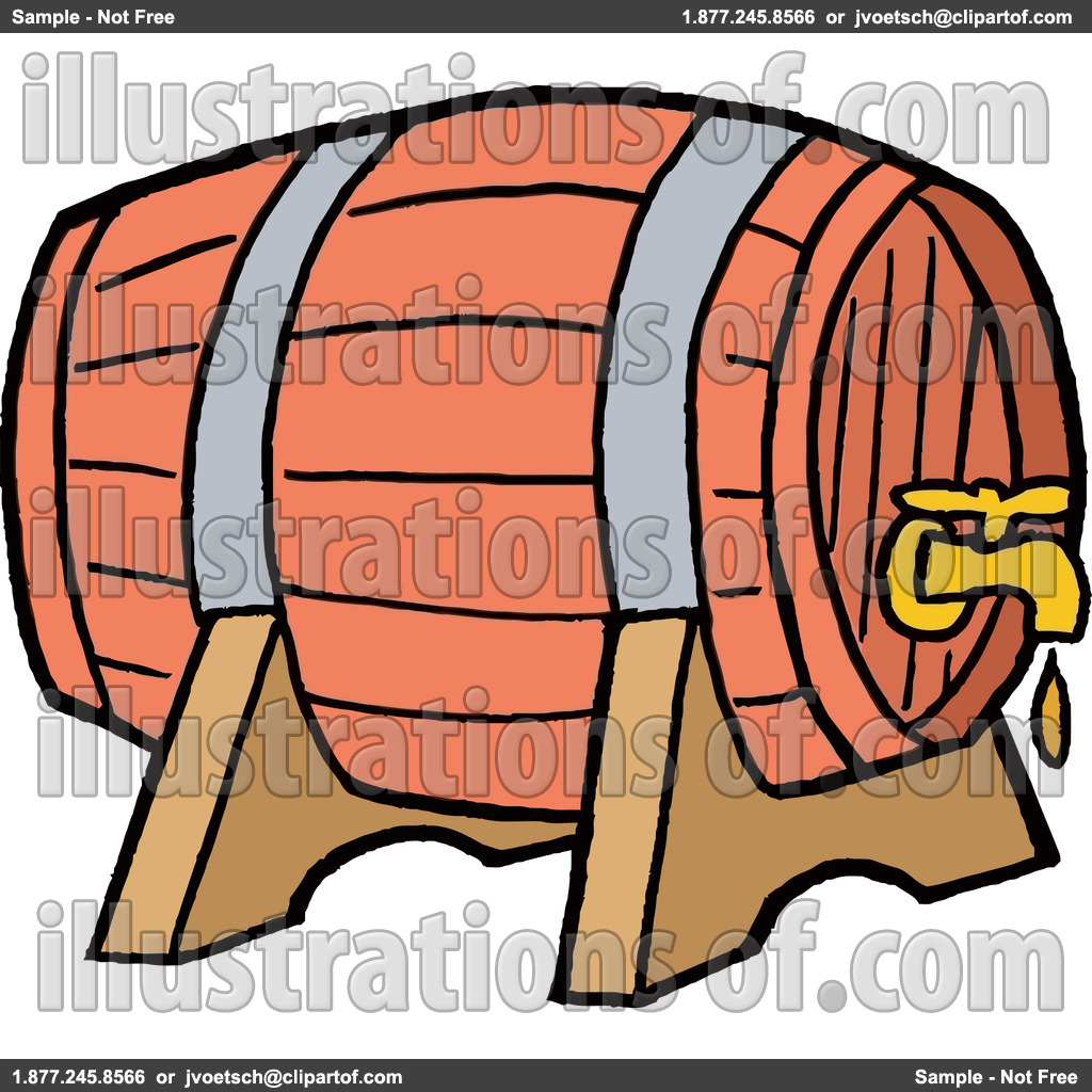Whiskey Clipart Royalty Free Rf Keg Clipart Illustration By Lafftoon