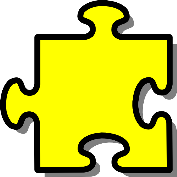 Yellow Puzzle Piece Clip Art At Clker Com Vector Clip Art Online