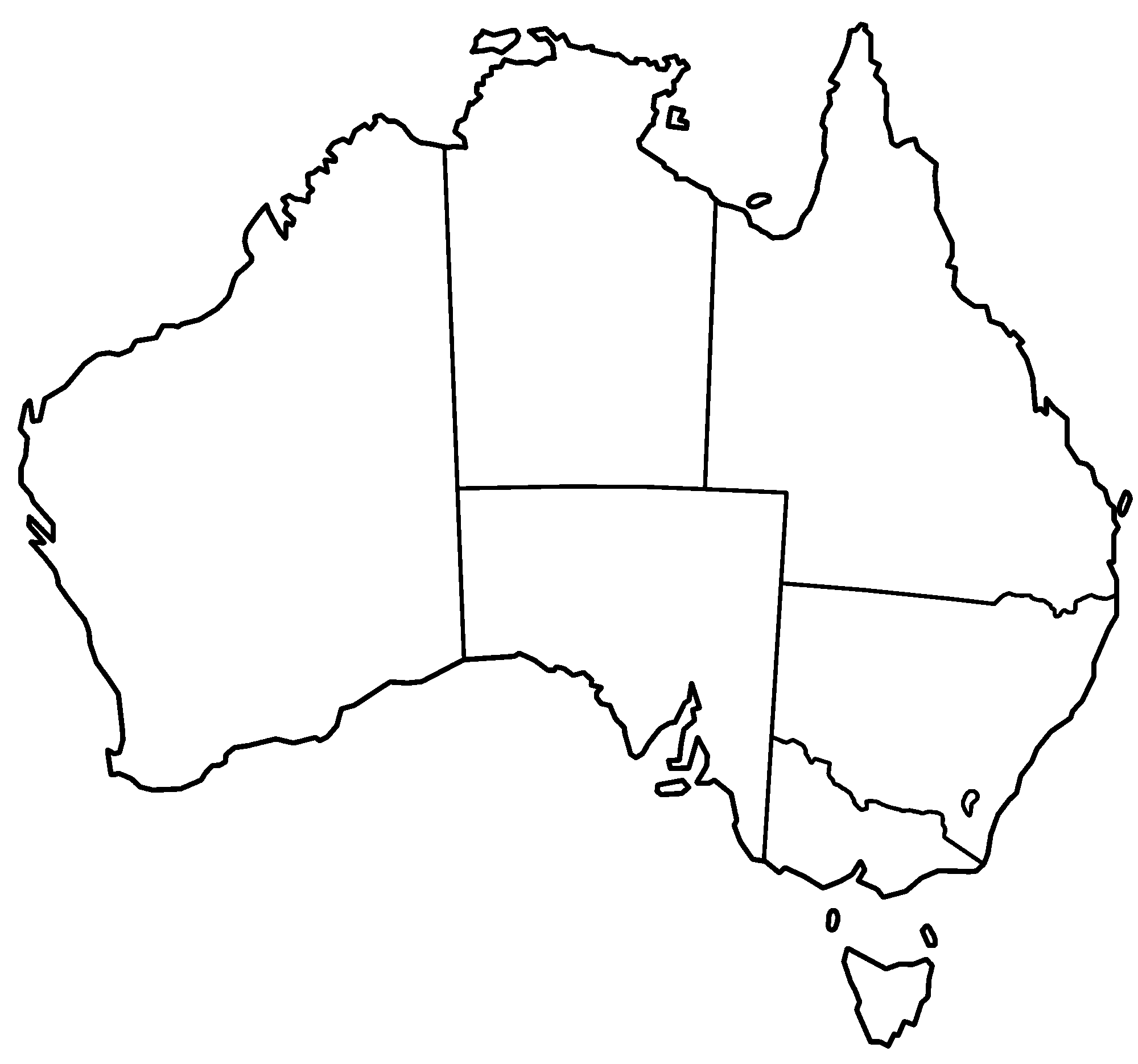 Australia Map Clipart - Clipart Kid