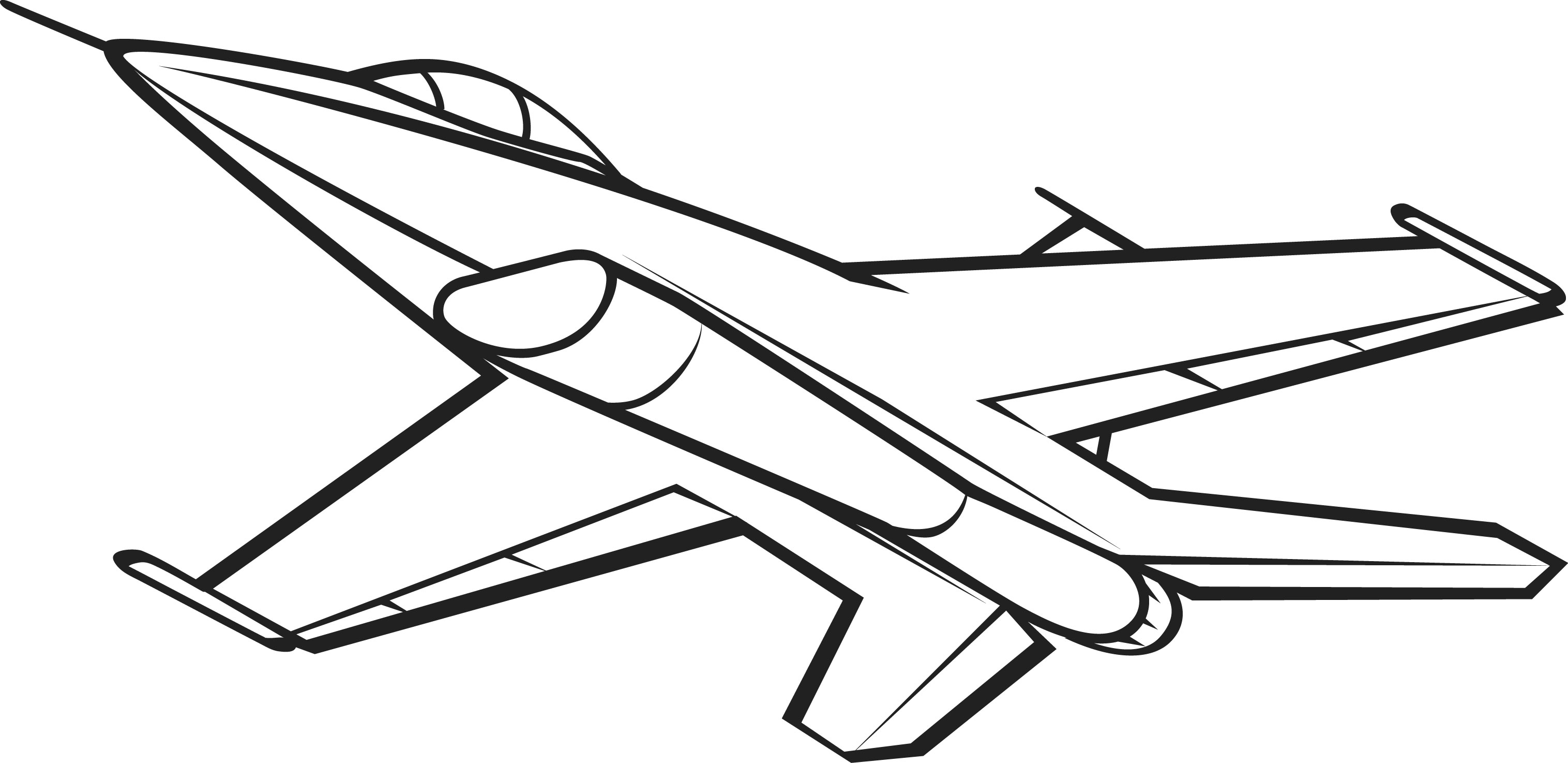 Line Art Jet : Jet black and white clipart suggest