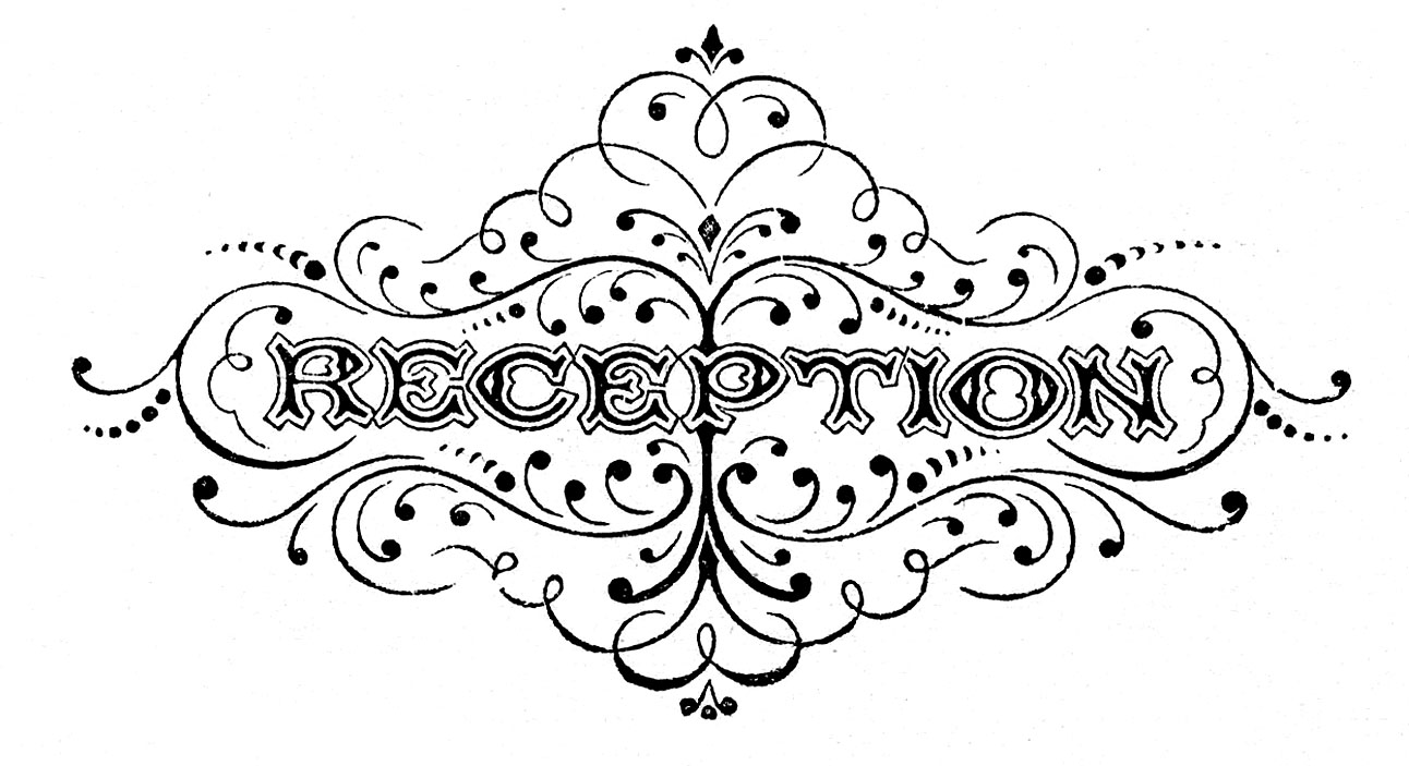 Black And White Clip Art   Wedding Typography   The Graphics Fairy