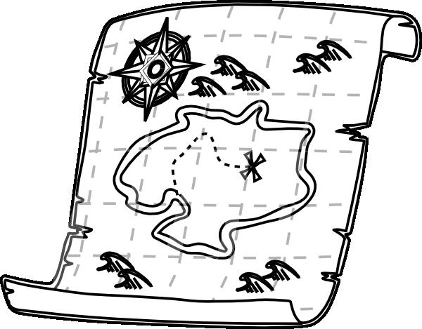 Pirate Treasure Black And White Clipart - Clipart Suggest