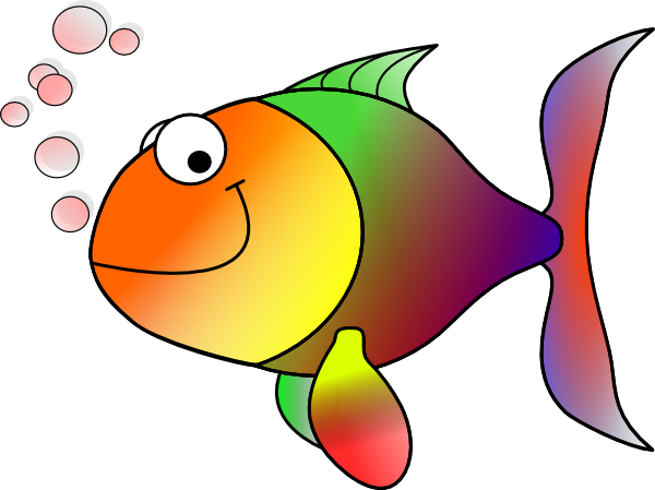 Bubbling Cartoon Fish Clip Art At Clker Com   Vector Clip Art Online