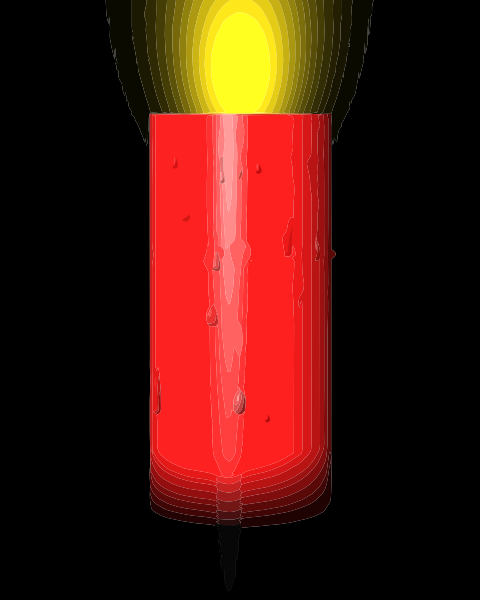 Burning Red Candle Clip Art At Clker Com   Vector Clip Art Online