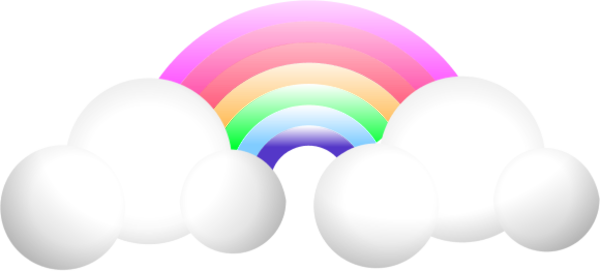 Cloud Rainbow   Vector Clip Art