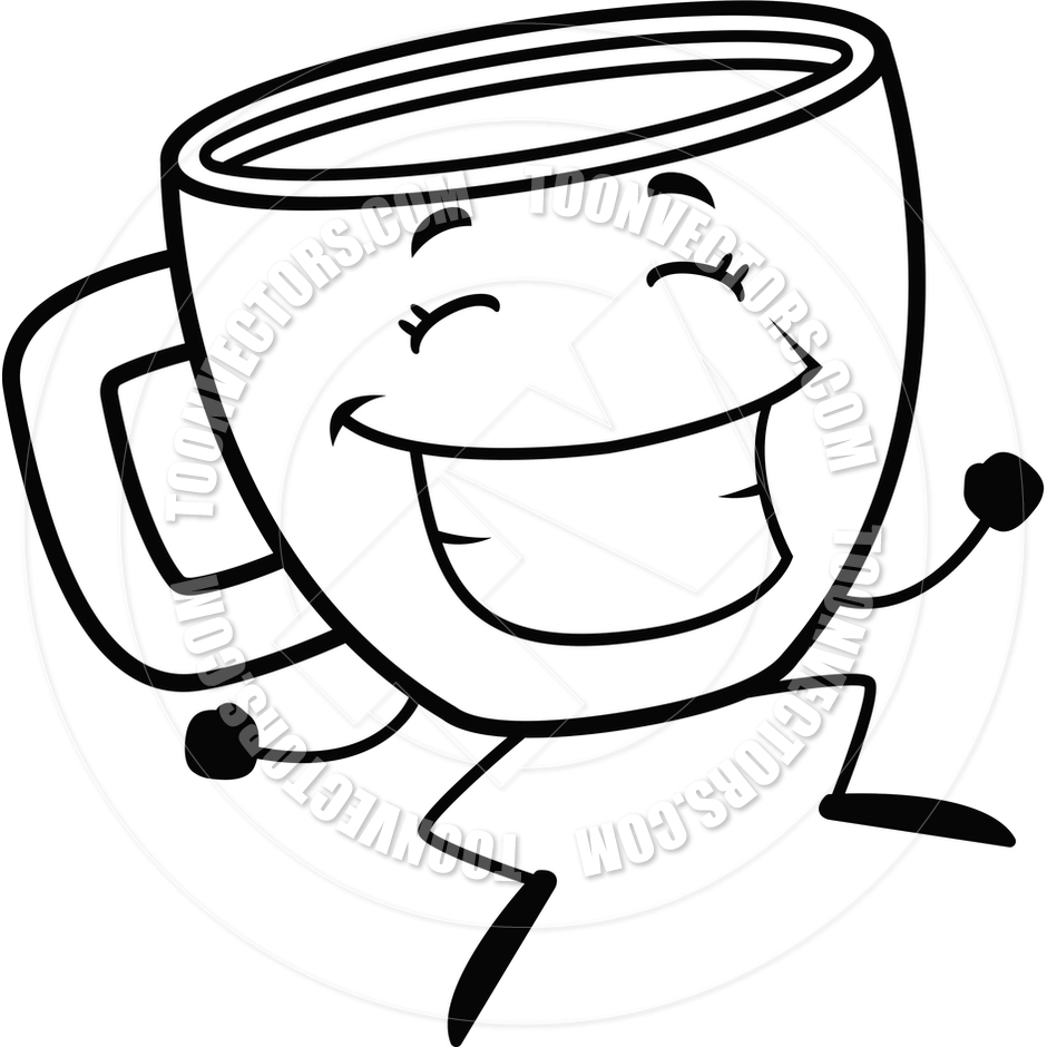 Coffee Cup Black White Clipart - Clipart Kid