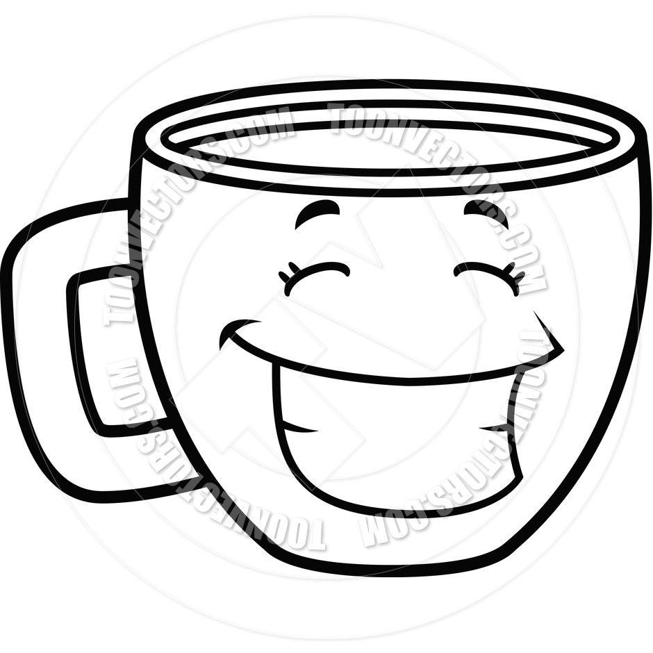 Cup Black And White Clipart Clipart Suggest