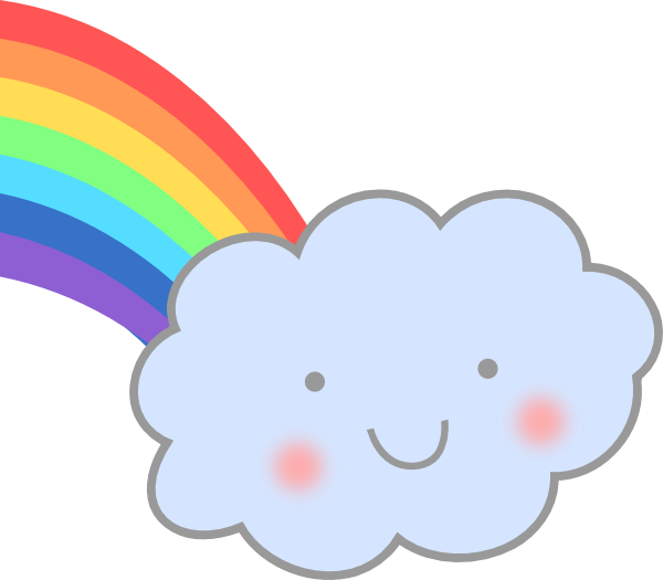 Cute Cloud With Rainbow Clip Art At Clker Com   Vector Clip Art Online