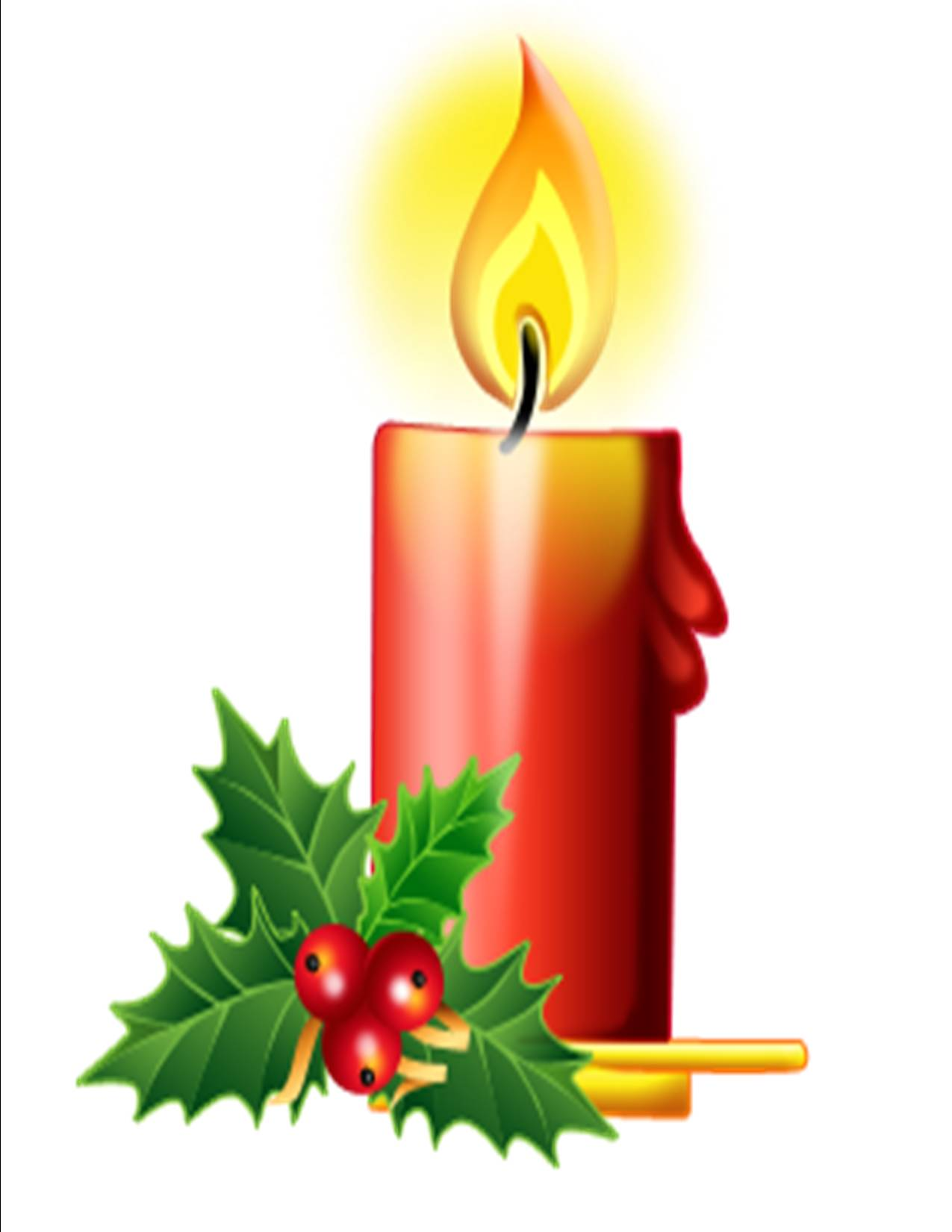 Christmas candle clipart suggest