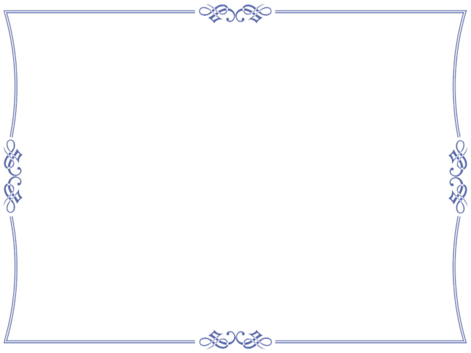 Elegant Blue Certificate Border By Bamafun