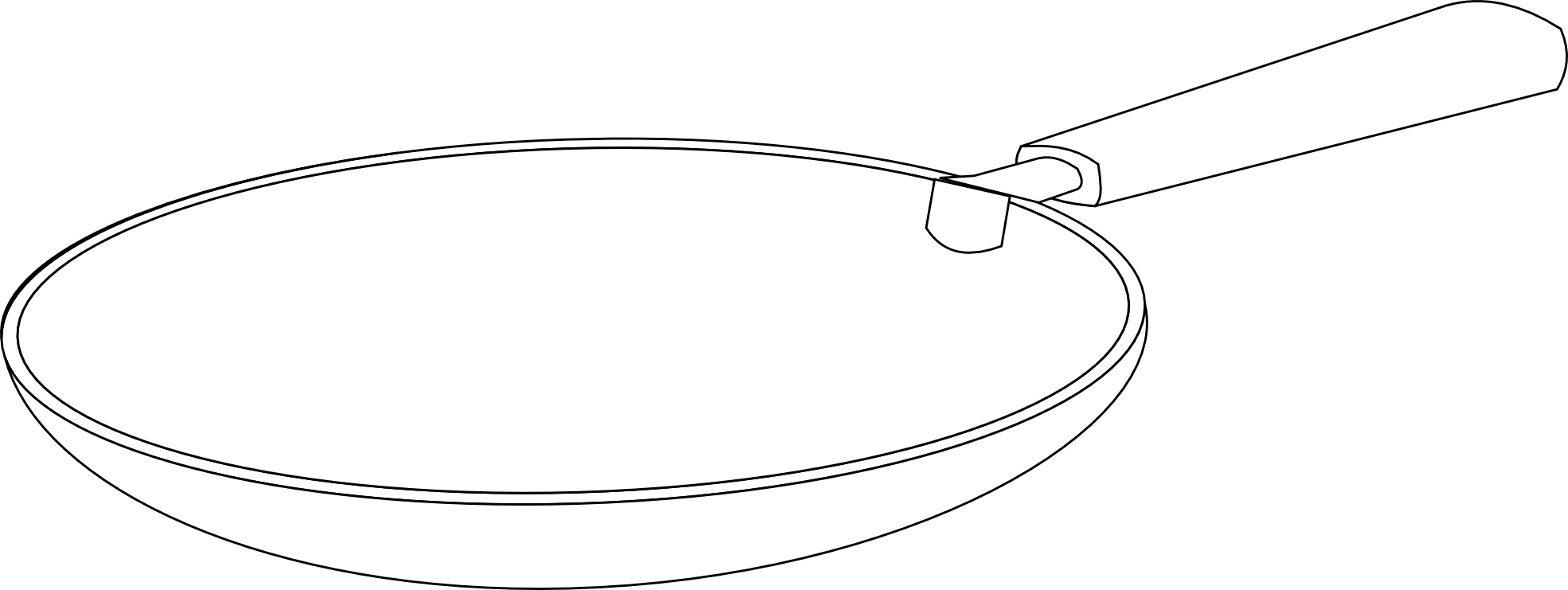 Food Padella Frying Pan Black White Line Art Scalable Vector Graphics