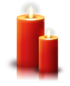 Free Red Christmas Candles Clip Art