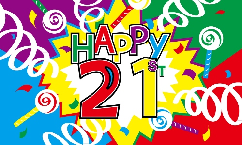 Happy 21st Birthday Flag   21st Birthday Flags   Happy 21st Birthday