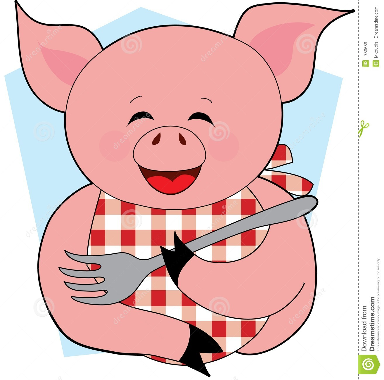 Happy Pig Eating Royalty Free Stock Images   Image  1750659