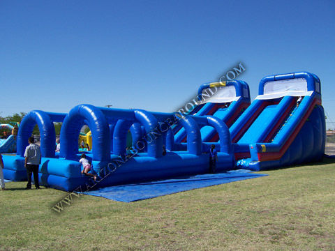 Huge Dual Lane Inflatable Water Slide Rentals Large Inflatable