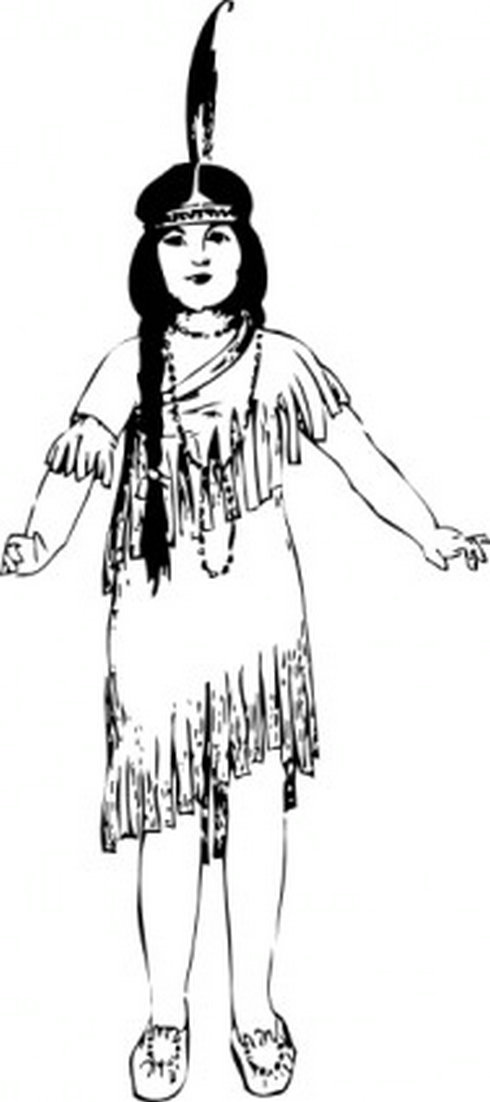 Native American Girl Clip Art   Free Vector Download   Graphics