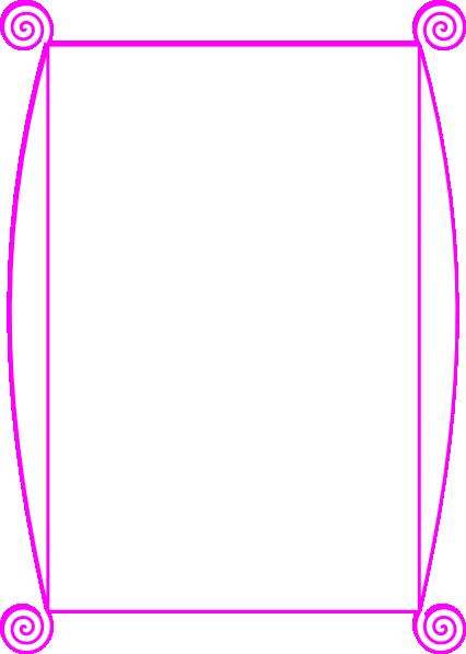 Pink Border Clip Art At Clker Com   Vector Clip Art Online Royalty