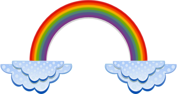 Rainbow And Clouds Clip Art At Clker Com   Vector Clip Art Online