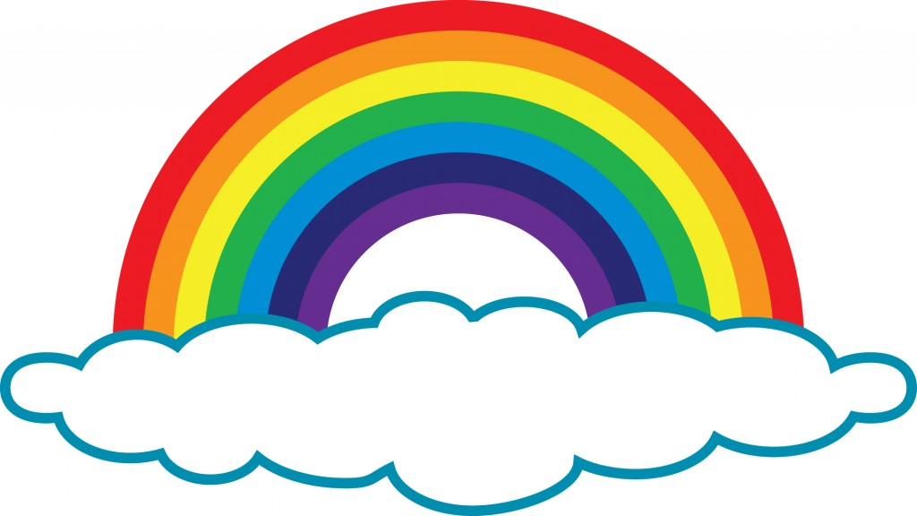 Rainbow With Clouds Clipart - Clipart Kid