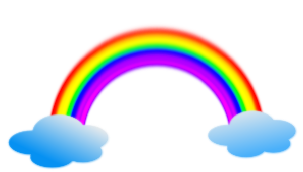 Rainbow In Clouds Clip Art At Clker Com   Vector Clip Art Online