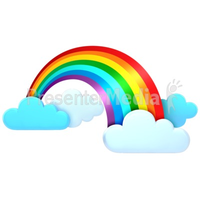 Rainbow In The Clouds   Signs And Symbols   Great Clipart For