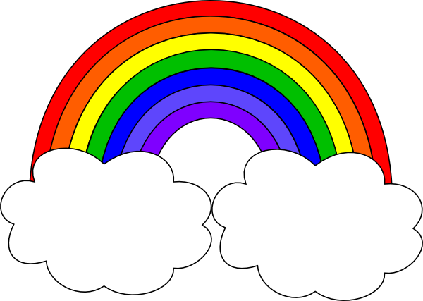 Rainbow With Clouds Clip Art At Clker Com   Vector Clip Art Online
