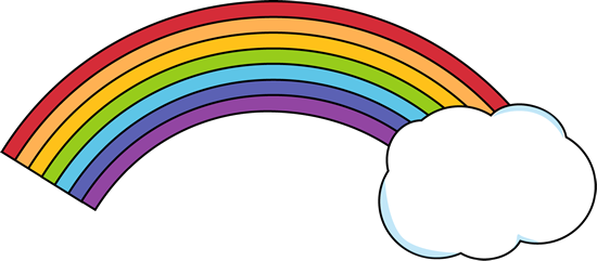 Rainbow With Clouds Clipart Rainbow With Cloud Png