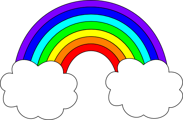 Rainbow With Clouds Clipart Rainbow With Clouds Hi Png