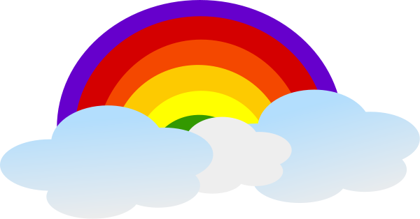 Rainbow With Clouds   Http   Www Wpclipart Com Weather Rainbow Rainbow